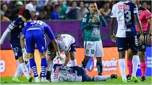 Luis Montes presente en la lesión de Pizzuto.