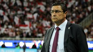 Luis Fernando Tena observa un partido.