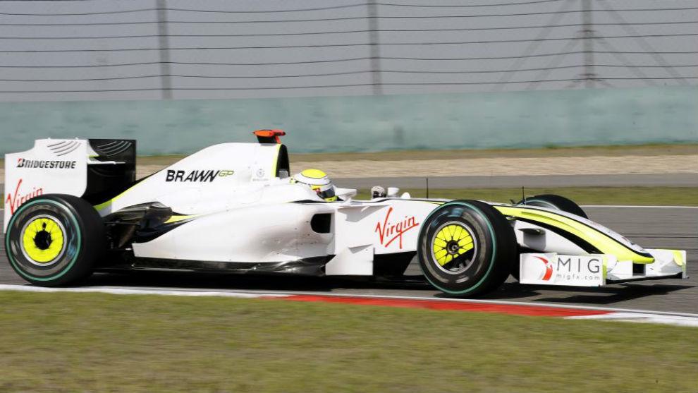 Jenson Button fue campeón con el BrawnGP del doble difusor en 2009.