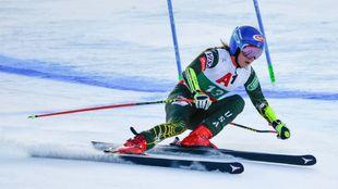 Mikaela Shiffrin se va de Bansko, donde nunca había competido, con...