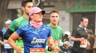 Mireia Belmonte en plena carrera en Sevilla.