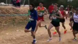 Fernando Carro, al frente en Quintanar.