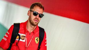 Vettel, en el Gran Premio de Hungría de la pasada temporada.
