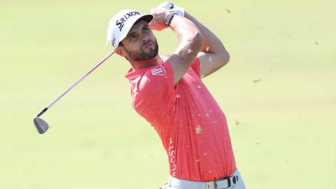 Adri Arnaus en el cuarta ronda del Omega Dubai Desert Classic.