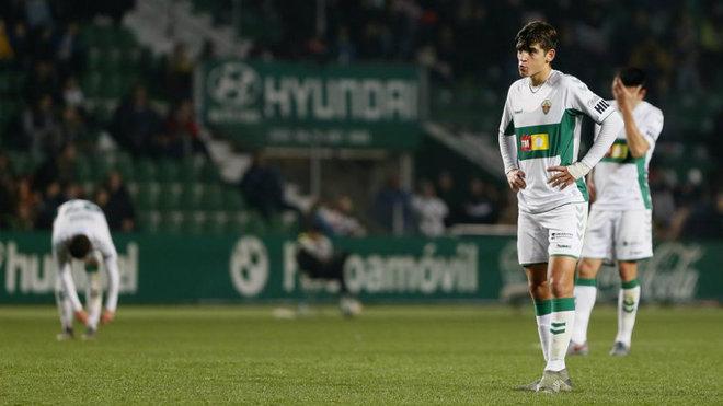 Gonzalo Villar, durante un partido con el Elche.