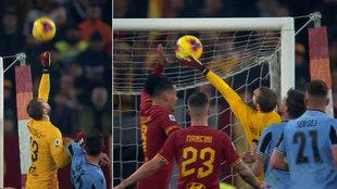 El error de Pau López ante la Lazio.