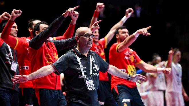 Jordi Ribera, durante la final del Europeo /