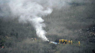 Imagen de los servicios de emergencia trabajado en la zona del...