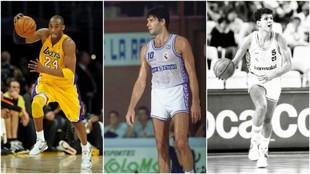 Kobe Bryant, Fernando Martín y Petrovic