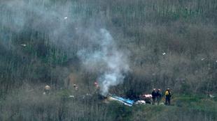 El helicóptero se estrelló en la zona de Calabasas