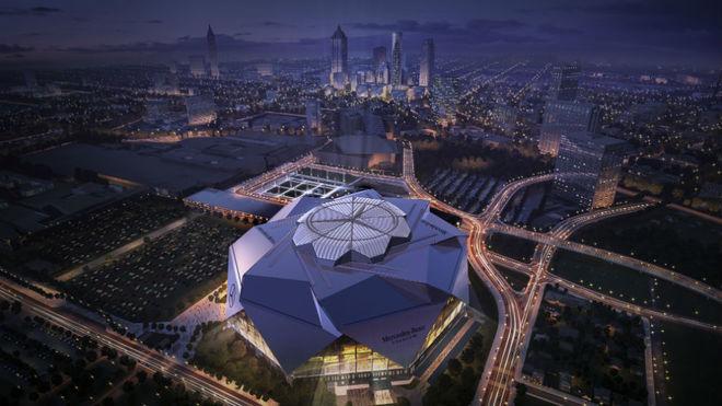 El Mercedes-Benz Stadium costó 1.500 millones de dólares.