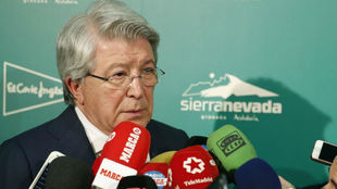 Enrique Cerezo at the Madrid Sporting Press Association awards.