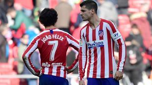 Morata and Joao Felix