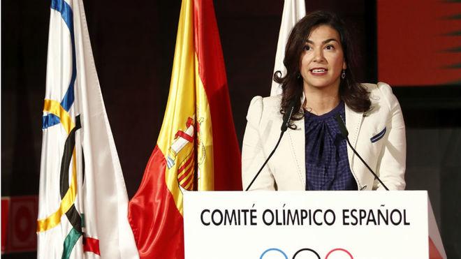 María José Rienda, en un acto