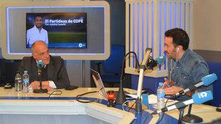 Javier Tebas y Juanma Castaño, durante la entrevista.