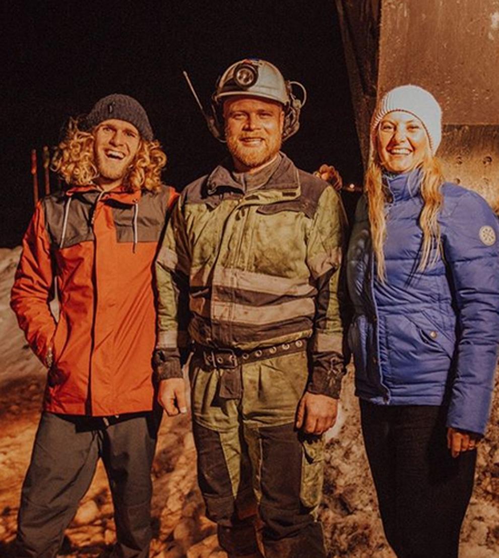 Lonia Häger y Stian Lauluten tras su rescate gracias a Tinder que se...