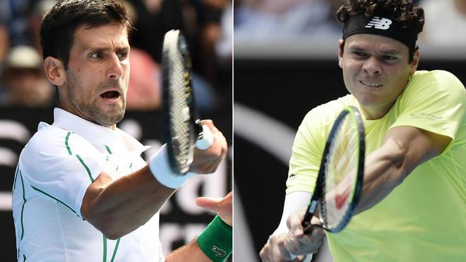 Djokovic y Raonic se enfrentan en la Rod Laver Arena