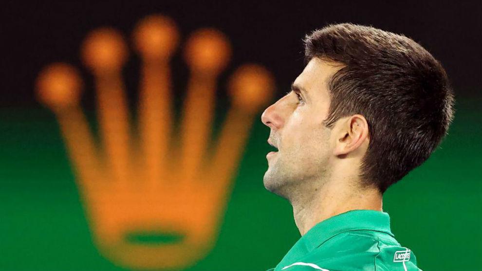 Djokovic, durante el partido