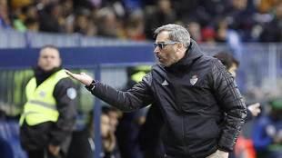 Jon Pérez Bolo gesticula durante un partido el la Ponferradina en...