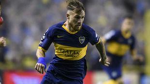 Alexis Mac Allister, en un partido con Boca.