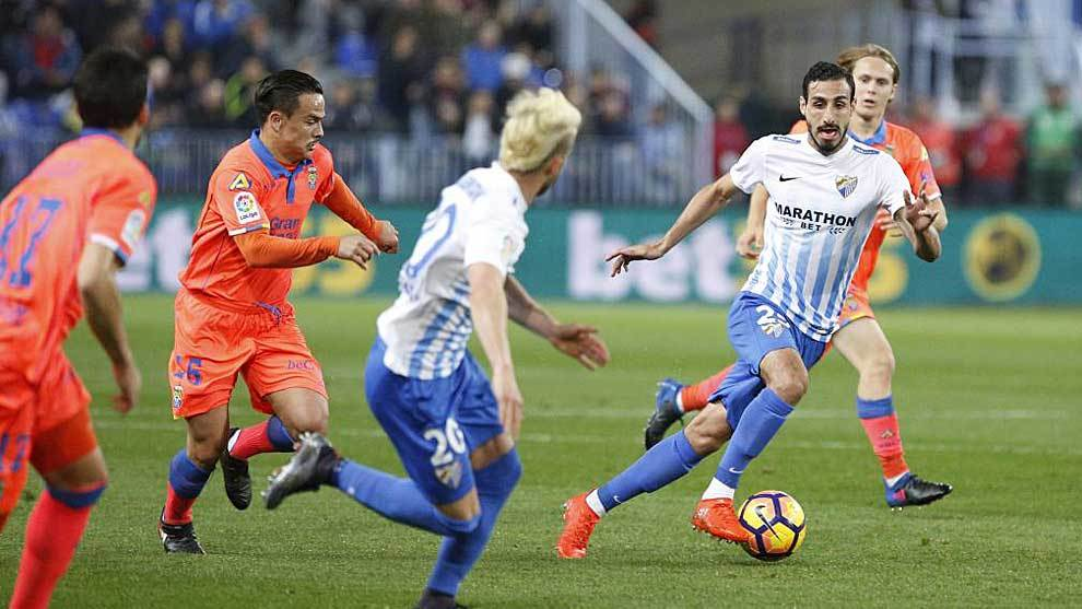 José Rodríguez, en un partido con el Málaga de hace tres años ante...