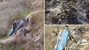 Un dron del Gobierno de EE.UU. muestra unas impactantes imágenes del lugar del accidente