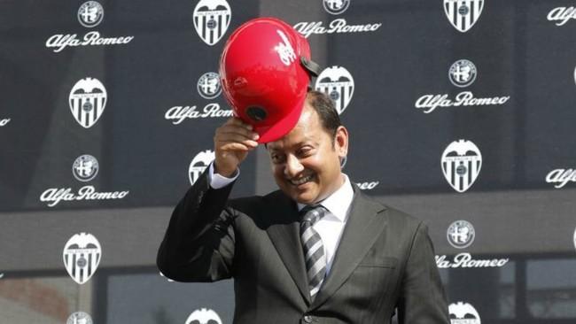 Anil Murthy, en un acto comercial del Valencia.