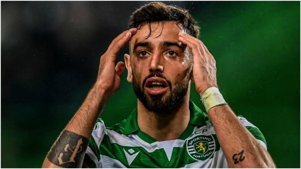 Bruno Fernandes, en el partido contra el Oporto.