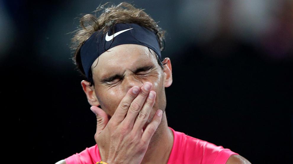 Nadal lamenta la eliminación en el Open de Australia.