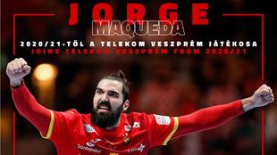 Cartel del fichaje del lateral derecho internacional español Jorge...