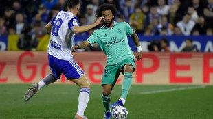 Marcelo, durante el partido ante el Zaragoza.