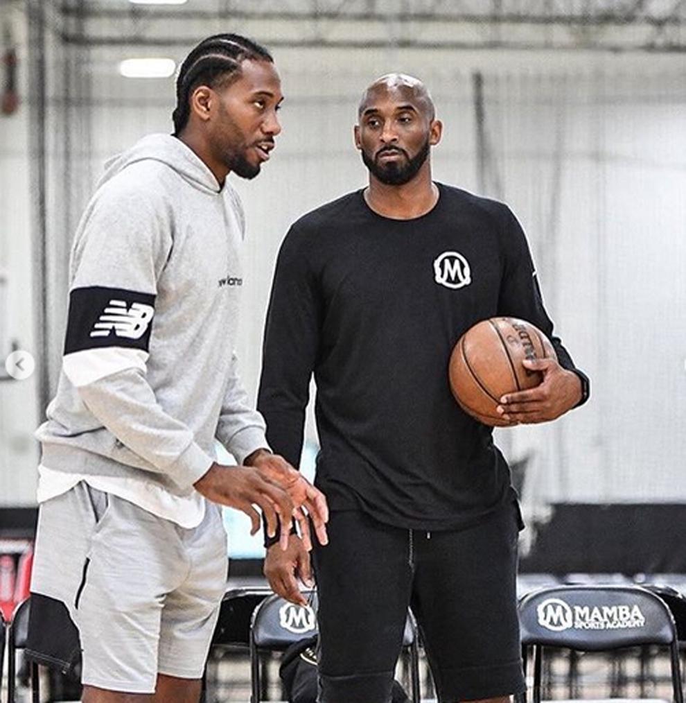 Kawhi Leonard y Kobe Bryant