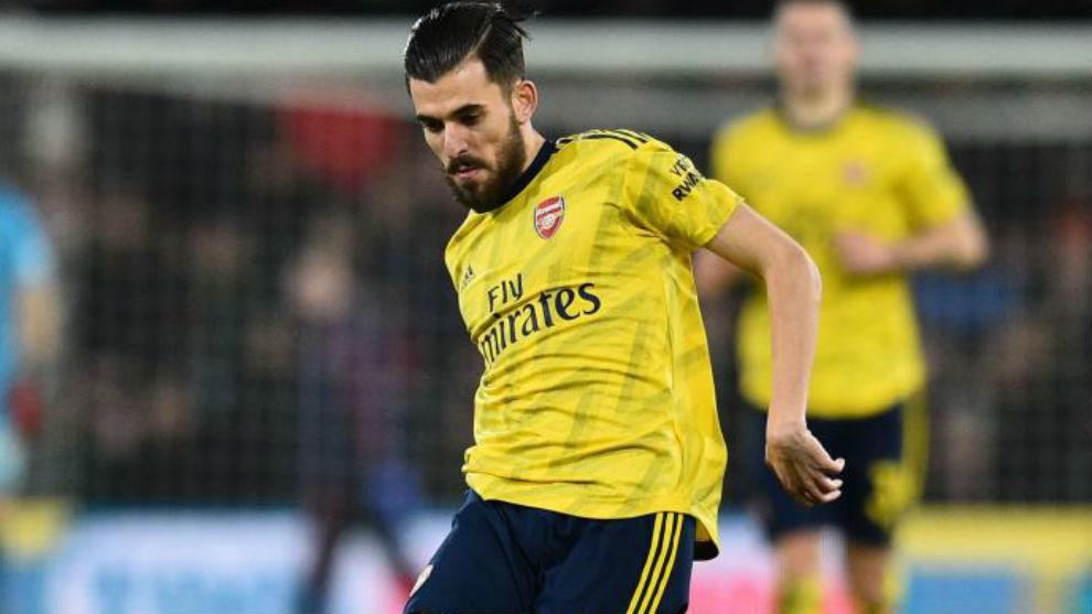 Ceballos, con el Arsenal.