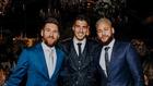 Messi, Suárez y Neymar, en una fiesta del uruguayo.