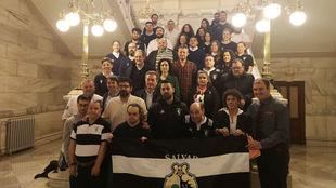 Presentación de los equipos en el Ayuntamiento de Valladolid.