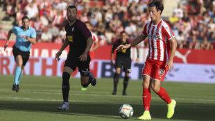 Marc Gual, durante un partido con el Girona.