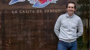 Emery, tras la entrevista en su restaurante de Madrid, la Casita de...