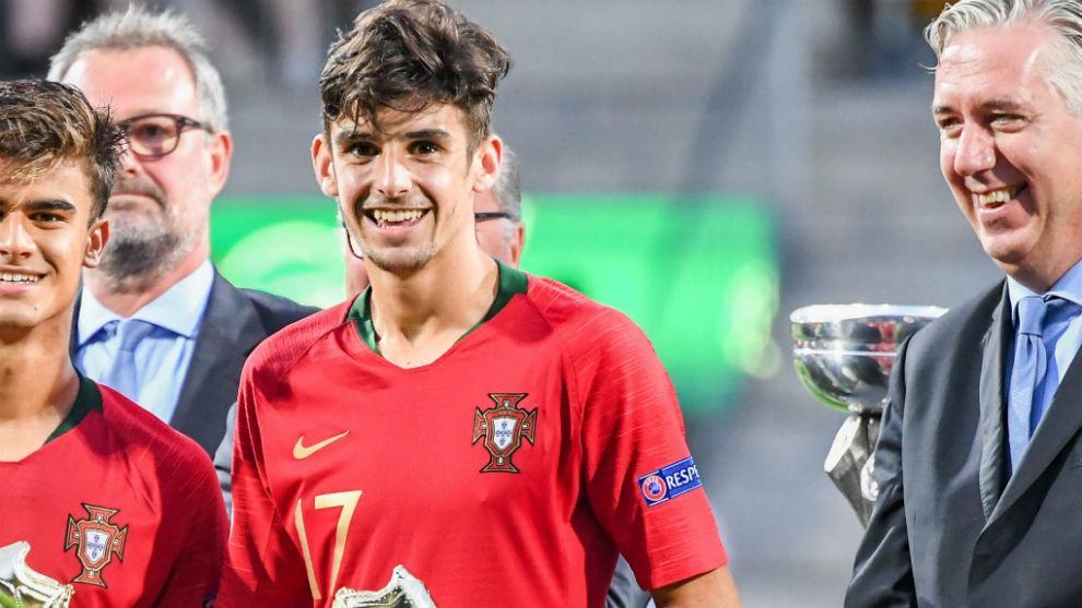 Trincao, con Portugal en la Euro Sub 19.