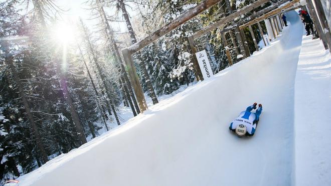 Ander Mirambell durante la prueba de este viernes en Saint Moritz.