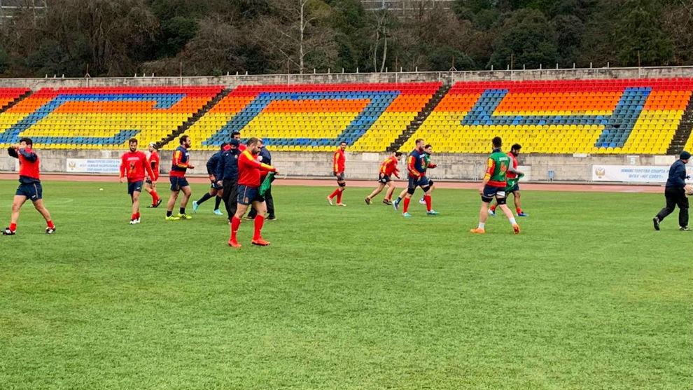 Entrenamiento de la selección española, en Sochi