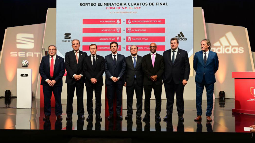 Los representantes de los equipos que jugarán los cuartos de la Copa.