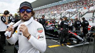 Fernando Alonso, durante el GP de Japón 2015.