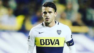 Fernando Gago durante su paso por Boca