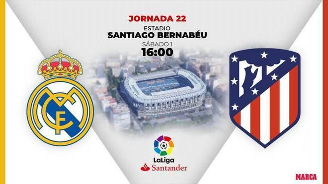 Real Madrid - Atletico de Madrid: horario y dónde ver en TV hoy