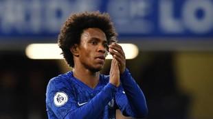 Willian, en un partido con el Chelsea.