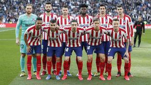 Once del Atlético ante el Real Madrid.