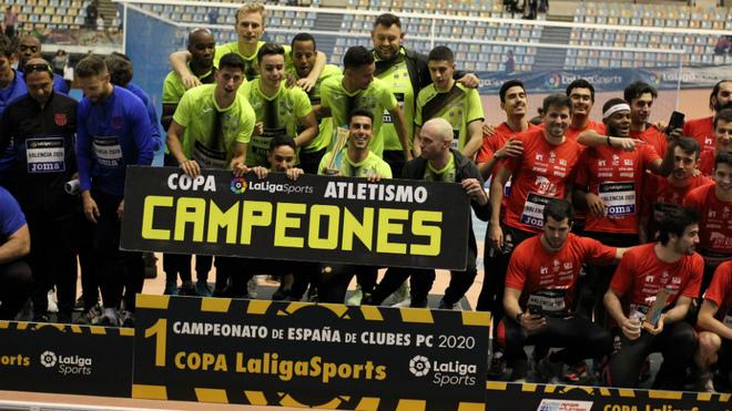 El podio de la Copa LaLigaSports.