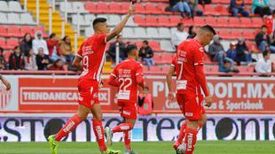 Mauro Quiroga anotó el primer gol del partido para Necaxa.