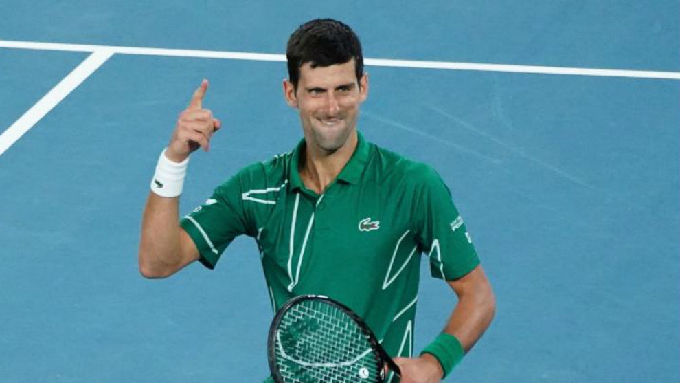 Djokovic celebra un triunfo