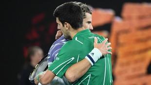 Novak Djokovic y Dominic Thiem.